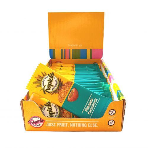 Džiovintų Ananasų - Pasiflorų Batonėliai, 20vnt Dėžutėje