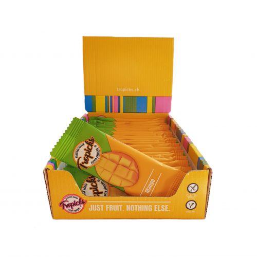 Džiovintų Mangų Batonėliai, 20vnt Dėžutėje