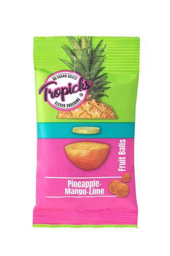 Džiovintų Ananasų - Mangų - Laimo Kamuoliukai, 8vnt Dėžutėje